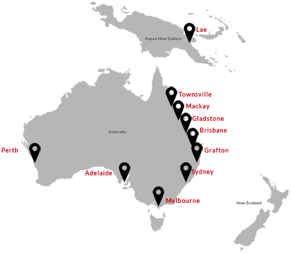 Location Map For Shipping Container Rentals In Australia