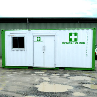 First Aid Room Made From Shipping Container For Hire