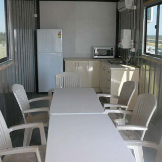 Lunch Room Inside A Shipping Container